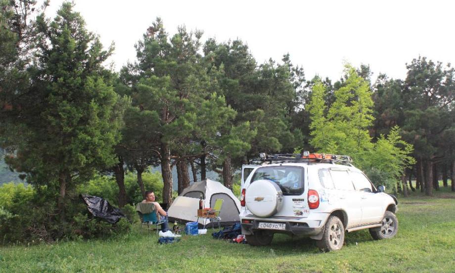 Лагерь возле Мцхеты