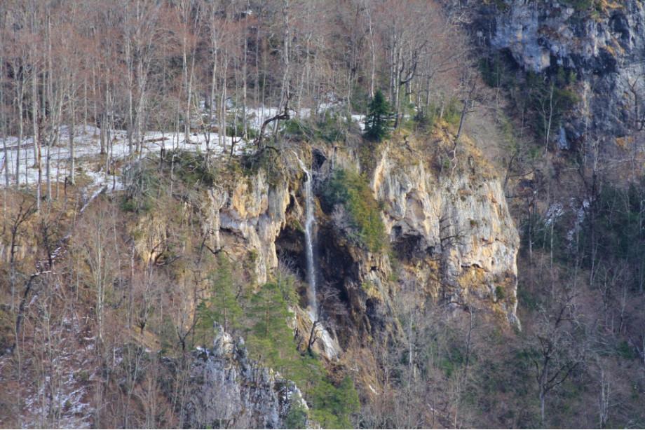 Монахов водопад, вид со смотровой
