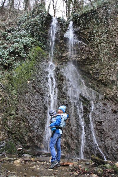 Первый Змейковский водопад.