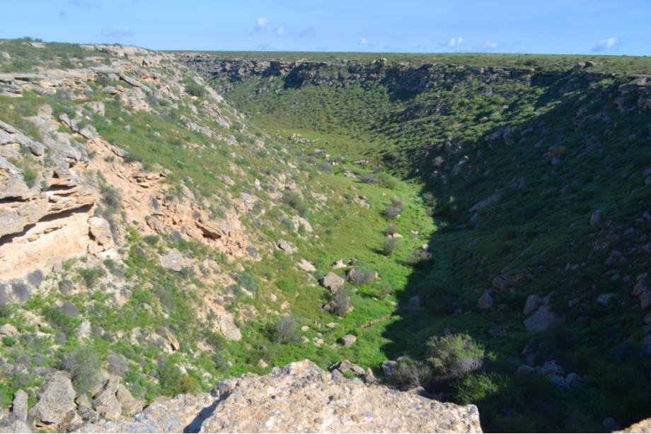 очередной каньон, который очень близко подходил к дороге